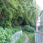 栗林公園北口駅裏の中野稲荷神社奥にある稲荷山登山道入口