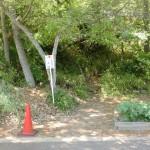 社会福祉法人さぬき敷地内にある石清尾山の登山口