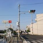 岡本駅の北側にある信号