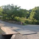堂山(高松市)の堂山登山道入口に入るところ