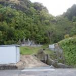 笠形山登山道入口(中通側)を正面から見る