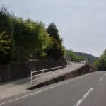 黒岩天満宮前の坂道