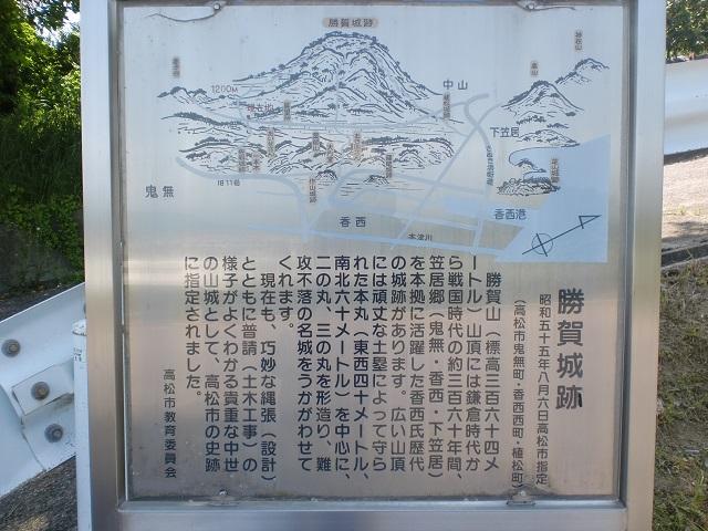 勝賀城跡(五色台・根香寺)の登り口にアクセスする方法