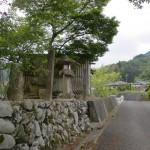弘法大師の網掛け石手前付近の車道