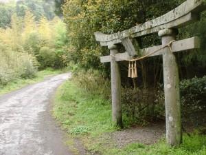 へびん湯の手前にある恵比寿神社の鳥居前