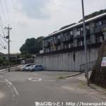 西目山登山口(大日登山口)前の車道
