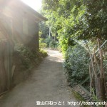 右田ヶ岳の新町側の登山口