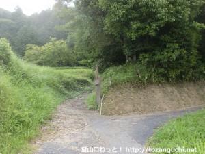 石城山(光市)登山道入口(県道63号線側)