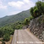 報恩寺(柳井市)の上にある石仏前のT字路を左に入ったところ