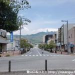 柳井駅前の車道