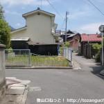 柳井駅北側にある町並み資料館から国木田独歩邸宅に行く途中の路地