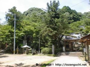 金剛寺(柳井市)境内前