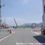 柳井港駅から国道2号線に出るところ