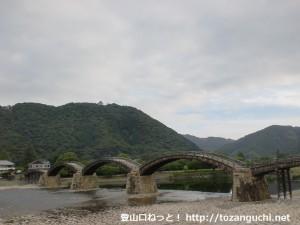 錦帯橋から見る岩国城(横山)