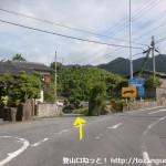 上阿品バス停(いわくにバス)のすぐそばにある県道59号線と県道111号線の分岐
