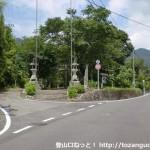 比叡神社参道入口前の分岐