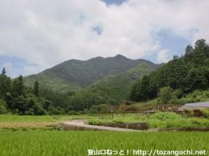 比叡神社の東側から見る蓮華山