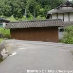 蓮華山本コースに行く途中のT字路