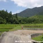 蓮華山本コースに行く途中のT字路を左に曲がったところ