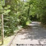 大黒山登山口手前の林道の入口