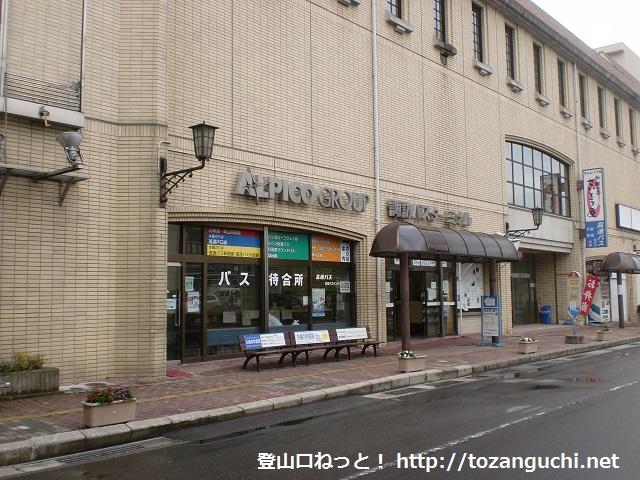 茅野駅バス停のアルピコ交通の待合所