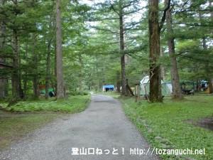 上高地の小梨平キャンプ場