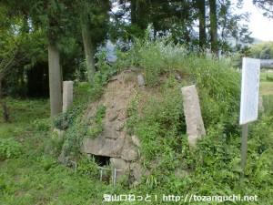 八雲神社の石風呂跡(魚切山登山口近く)
