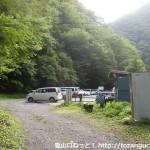 光岳の易老渡登山口の駐車場
