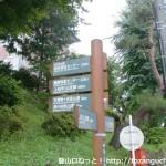 上松小学校脇の辻に立てられている木曽駒ケ岳登山道を示す道標