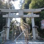 意賀美神社参道入口前の鳥居