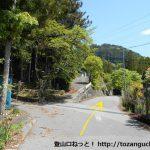 易老渡・便ヶ島に向かう林道の分岐1