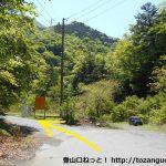 易老渡・便ヶ島に向かう林道の分岐10