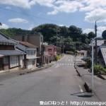 高水駅前の車道