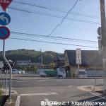 JR新三田駅東出口から国道176号線に出るところ