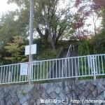 清荒神の大駐車場横にある大林寺への石段