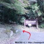 紀見峠駅北側にある金剛生駒紀泉国定公園の入口