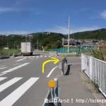 武田尾廃線跡のJR生瀬駅側の入口手前の脇道に入るところ