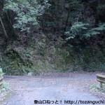 県道134号線の黒沢集落に登るところ