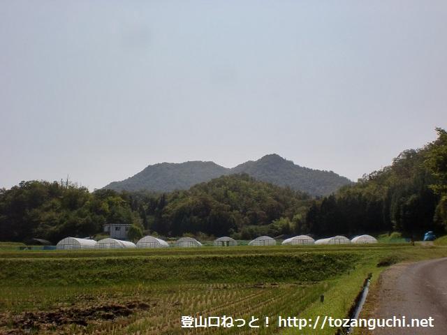 白石口から見る白石山(山口市)