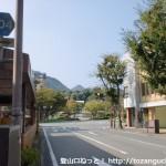 JR山口駅前の車道(スカイロード)から県道204号線に出合う所