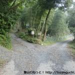県道31号線から花尾山登山口にいく途中の林道分岐