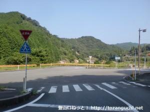 俵山温泉北側の県道38号線と県道281号線の出合う交差点