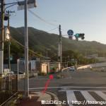 国道42号線から藤白神社の方に入るところ