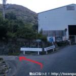 熊野古道の山口王子跡の少し上で左の農道に入る