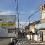 JR湯浅駅前の車道