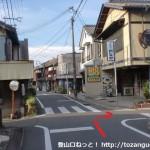 JR湯浅駅南側の十字路