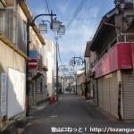 JR湯浅駅西側の商店街