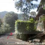 熊野古道の河瀬王子跡前
