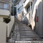 板宿八幡神社への階段