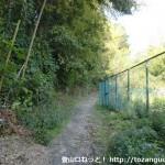 六甲全山縦走路(高取山登山口・那須与一の墓側)の入口